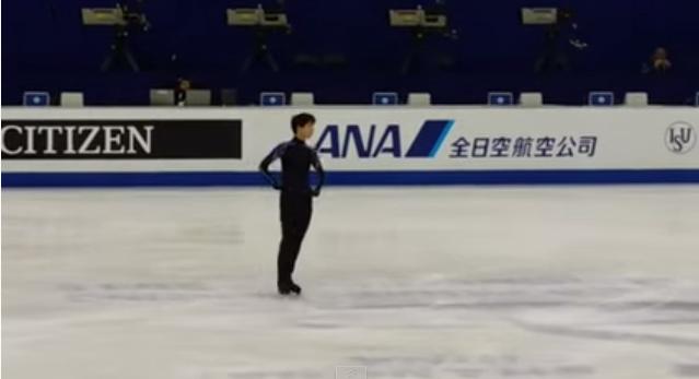 【羽生結弦】世界選手権 2015 SP公式練習動画