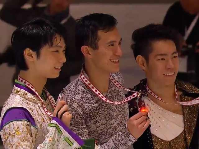 【パトリック・チャン、羽生結弦、村上大介】スケートカナダ表彰式2015  Men Victory Ceremony カンファレンス動画もあるよ