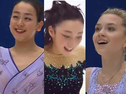 【浅田真央・本郷理華・ラジオノワ・他】中国杯2015 SP FP女子シングルまとめ 表彰式もあるよ