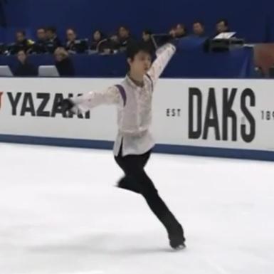 羽生ゆづる NHK杯FP 中国語