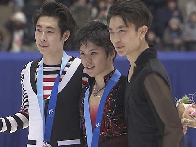 冬季アジア大会 表彰式宇野昌磨