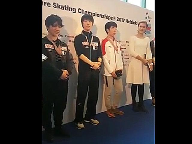【羽生結弦・宇野昌磨・ボーヤン・ジン】世界選手権2017  FS スモールメダル